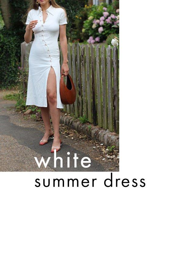 allykraw best summer dress white midi