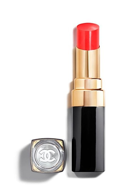 chanel red vibrant lipstick with black handle