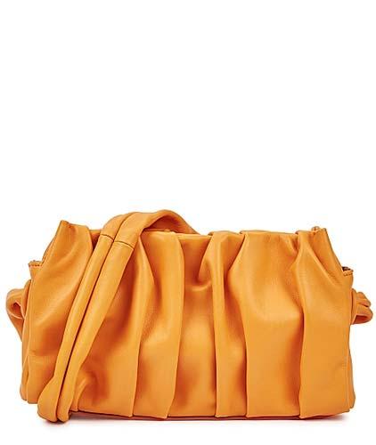 Elleme Vague orange leather shoulder bag