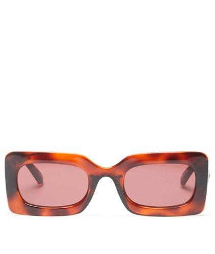 Le Specs Oh Damn Rectangular SunshadesSunglasses Spring Summer 2021