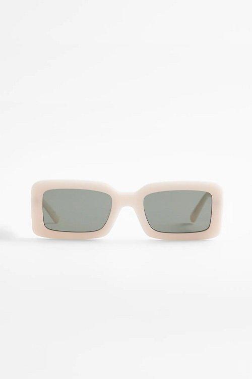 zara white square sunglasses