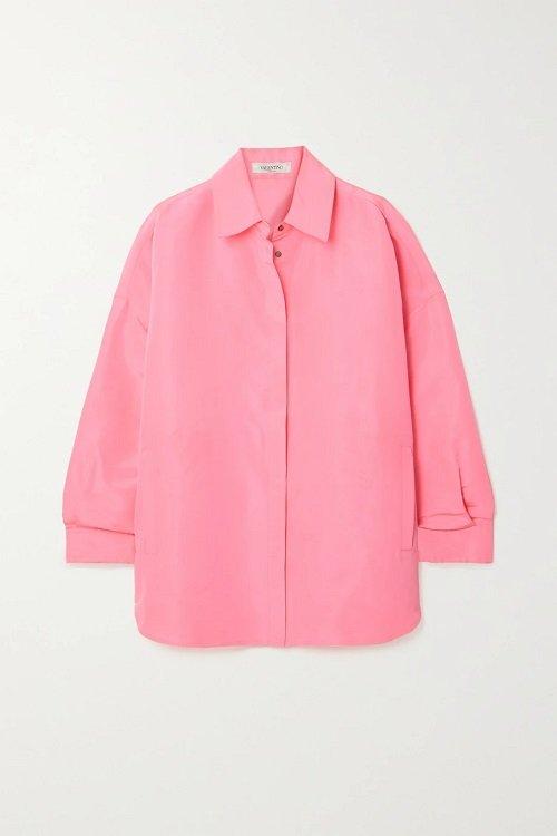 pink valentino silk shirt