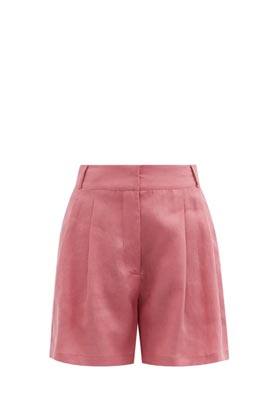 pink tailored shorts