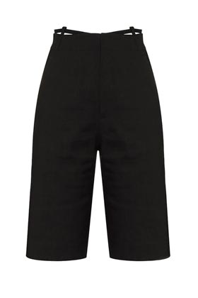 Jacquemus black straight cut black shorts