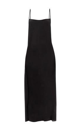 raey thin strap silk slip dress