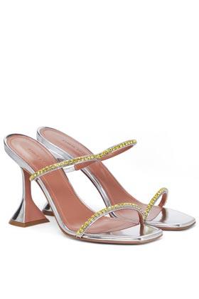 summer shoes amina muaddi glida embellished leather sandals