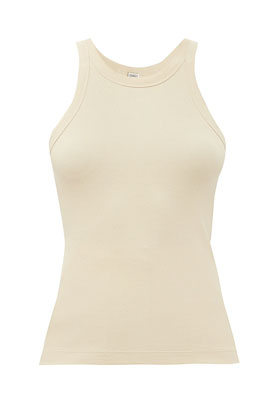 Ultimate Summer wardrobe staples Toteme ribbed cotton tank top