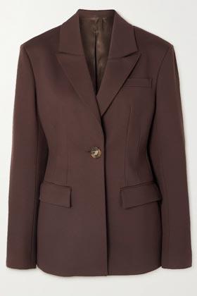 brown oversized blazer