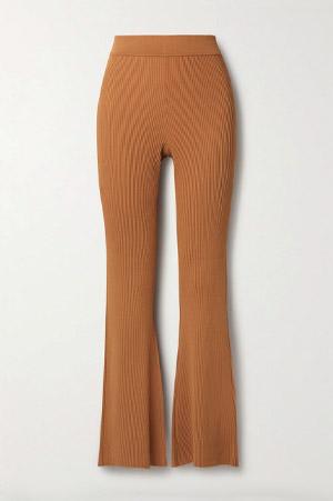 knitted carmel pants
