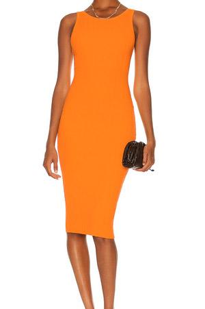 Autumn-Winter 2021 trends orange midi dress