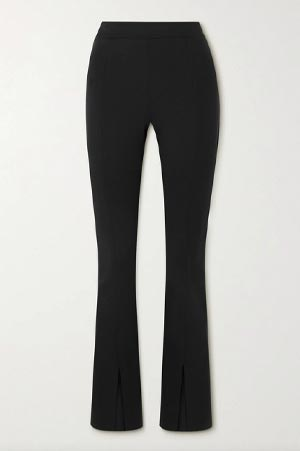 Autumn-Winter 2021 trends Black flared cotton stretch pants