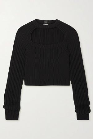 Autumn-Winter 2021 Trends Loewe Cutout Black Jumper