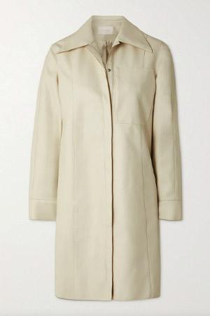Autumn-Winter 2021 trends cream leather shirt dress