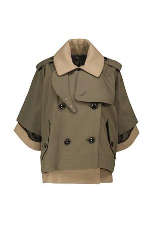 Autumn-Winter 2021 trends khaki double-layered overcoat