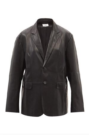 Autumn-Winter 2021 trends faux leather blazer